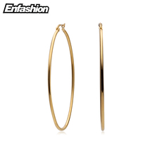 Enfashion Large Hoop Earrings Gold color Thin Line Earings Stainless Steel Circle Earrings For Women Jewelry Wholesale(China)