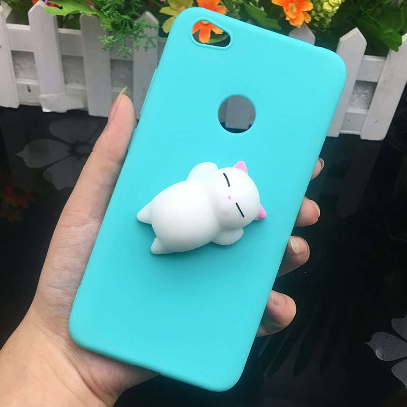 3d Squishy Cat Silicon TPU Soft Case For Xiaomi Redmi 5 plus 4X 4A 3S note 5 pro Candy Color Back Cover Redmi 5A prime 3 4 Cases (11)