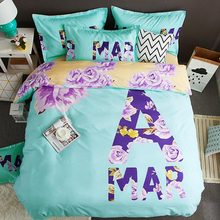 Home Textile Polyester Bedding Set Bed Linen Duvet Cover Bed Sheet Pillowcase Twin Full Queen King Size Cartoon Bedding Sets