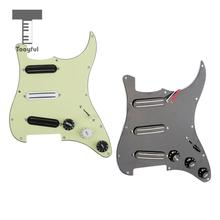 3 Ply Loaded Pickguard&Dual Rail Pickup Set for Electric Guitars(China)
