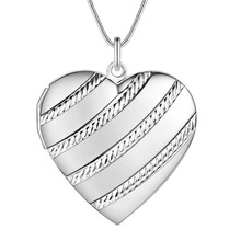 PROMOTION Fashion silver cute Pendant Locket Plate Charm Necklace women 13 styles Cheap Good quality Wholesale Price CYPRIS(China)