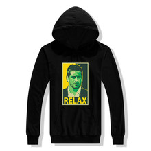 Thin & Thick 2017 12 Aaron Rodgers Says Relax poster hoodie Casual Hooded Pullovers Sweatshirts hot sell(China)