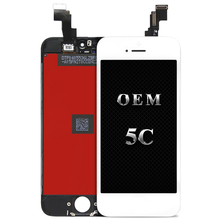 For OEM quality 10pcs For iPhone 5c Display LCD Touch Screen Digitizer Assembly for iPhone Replacement+Camera Holder free gifts(China)