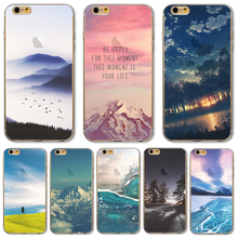 For iPhone 7 Soft TPU Cover For Apple iPhone 7 Cases Phone Shell Pefect Design Painting Vast Grassland Silicon Nice