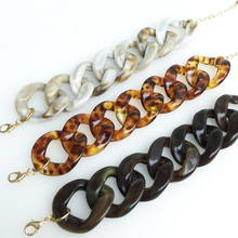 Woman Chain Link Bracelet Basic Leopard Resin Bracelet DIY Bracelet Black