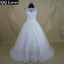 Buy QQ Lover 2018 New Elegant Lace See Bac Vestido De Noiva Luxury Appliques Wedding Gown Wedding Dress for $89.25 in AliExpress store
