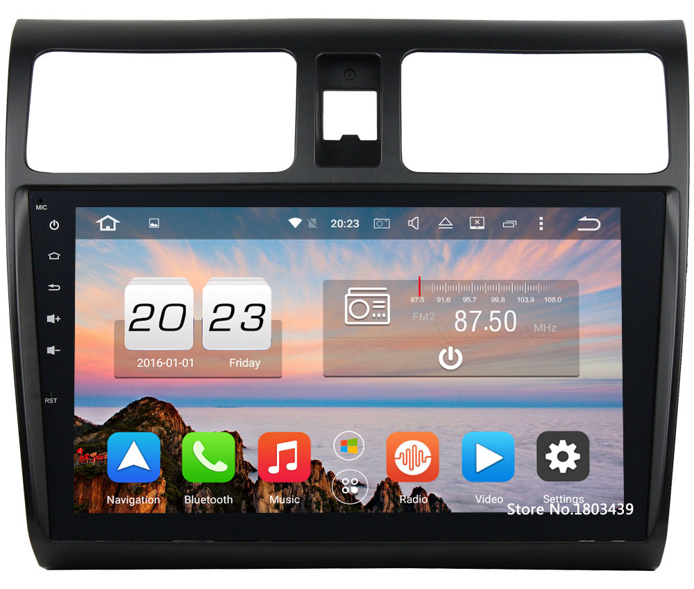 Octa Core 2GB RAM 32GB ROM Android 6.0.1 Car Radio Audio Stereo Bluetooth MP3 MP4 Player Touch For Suzuki Swift 2013-2017