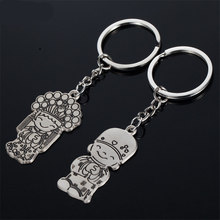Fashionable Chinese style clothing couple key creative cute key chains wedding gift The friend fashion gifts