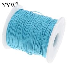 100Yards/Spool Wax Cord with plastic spool DIY Making for Necklace Bracelet 1mm Waxed Cotton Cord Wax Cord 2017 Free shipping