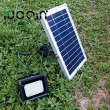 hot factory price 54 leds waterproof IP 65 all in one solar street light with 6V*6W solar panel
