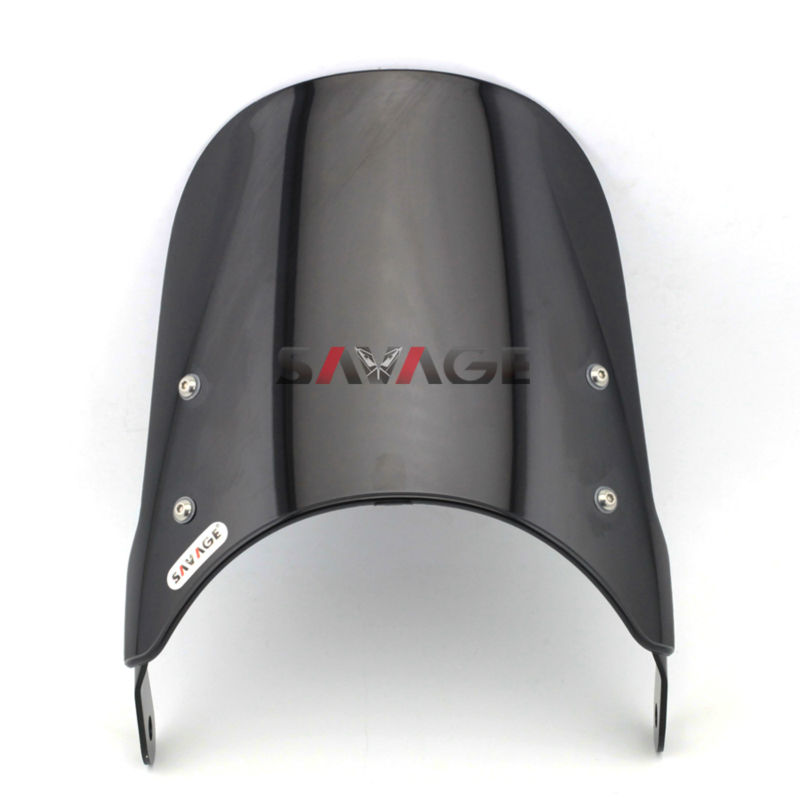 FOR KAWASAKI ER-5/ZR 250/ZR400/ZR550/ZR750/ZR-7 Windshield Windscreen Motorcycle Universal Pare-brise Suits  7 Round Headlights<br>