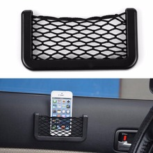 15X8cm Auto Pouch Adhesive Visor Box Car Automotive Accessories Storage Holder Net Pocket Organizer Bag For Mobile Phone