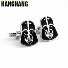 Star Wars Black Warrior Cuff Buttons Bijouterie Charm Jewellery For Men's Shirt Cuff Links Pins Decorations Accessories(China)