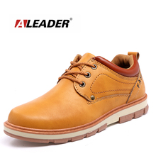 Buy ALEADER Slip Resistant Work Shoes Men Casual Oxford Shoes Fashion Comfortable Men Walking Flats Leather Lace Shoes Male for $20.88 in AliExpress store