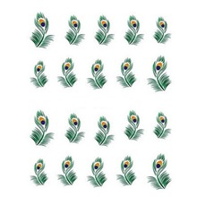 One Piece!!!new Style Nail Sticker Nail Decals Stickers Water Decal Plume Feather Pinna Water Transfers Stickers(China)