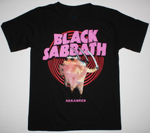 BLACK SABBATH PARANOID'70 HEAVY METAL OZZY OSBOURNE DIO T-Shirt BLACK MUSIC TOPS TEE SHIRTS S-3XL