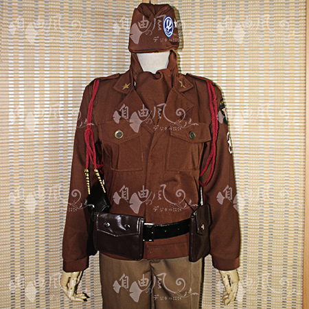 Axis powers hetalia Alfred F Jones Cosplay Costume Uniform Outfit Shirt+Scarf+Coat+Pants+Belt+Bag Custom-made