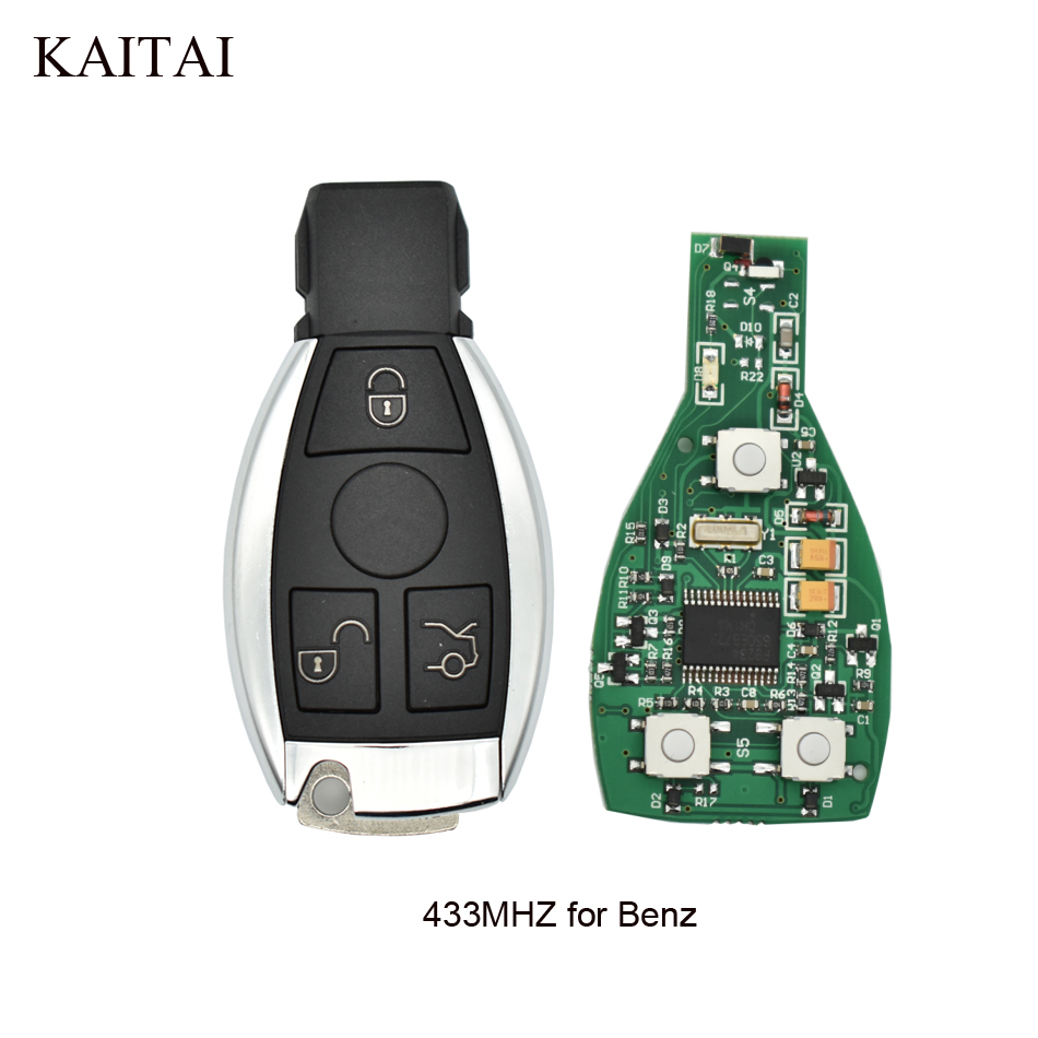3Buttons 433Mhz Remote Key Mercedes Benz year 2000+NEC&BGA style Mercedes-Benz IYZDC07 Car Smart Key +Blade
