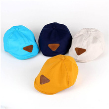 Summer Cotton Baby Hat Handsome Striped/Soild Cap Beret Kids Sun Hats Baby Boy Accessories(China)