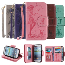 Multi Function Mobile Phone Wallet Case For Samsung Galaxy S3 i9300 coque Leather 9 Card Holder and Make-up mirror Back Cover(China)