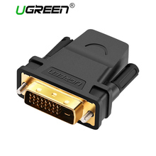 Ugreen HDMI to DVI 24+1 Adapter Female to Male 1080P HDTV Converter DVI Connector for PC PS3 Projector TV Box(China)