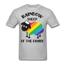 Men's Leisure Rainbow Sheep Of The Family LGBT T-shirt White Short Sleeve Custom T Shirts Boy
