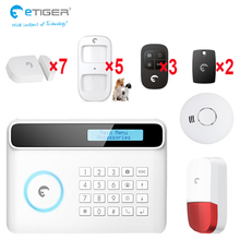 Wireless GSM+wifi home and business security burglar alarm system kit auto dialing dialer android ios app control