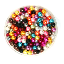 New Arrival-1000 PCs Random Mixed Color Pearl Imitation Acrylic Plastic Round Beads for DIY Jewelry 6mm PS-BSG01-02MX