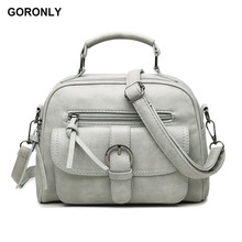 GORONLY Brand Fashion Leather Handbag Women Vintage Floral Shoulder Bag Female Designer Crossbody Bags Ladies High Quality Totes(China)