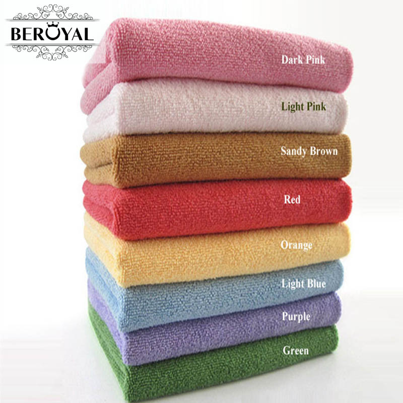 1PC Nano Microfiber Drying Absorbent Bath Towels Washcloths Lightpink 13 Colors