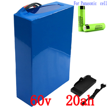 Free customs duty 3000W 60V 20AH Lithium battery 60V 20.3AH electric bicycle battery use for Panasonic 2900mah cell 50A BMS