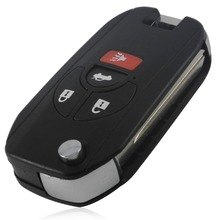 New 4 Buttons Uncut Blank Remote Flip Folding Key Shell Case Fob for Nissan Altima Maxima Sentra Versa