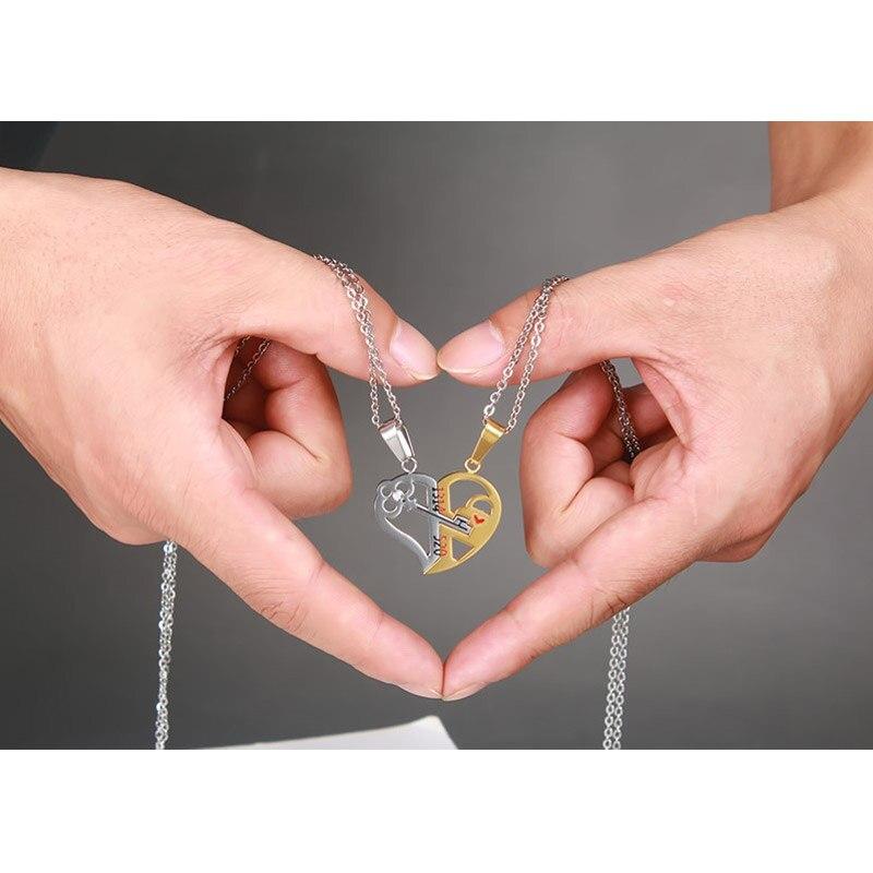 Парное украшение ключ от сердца