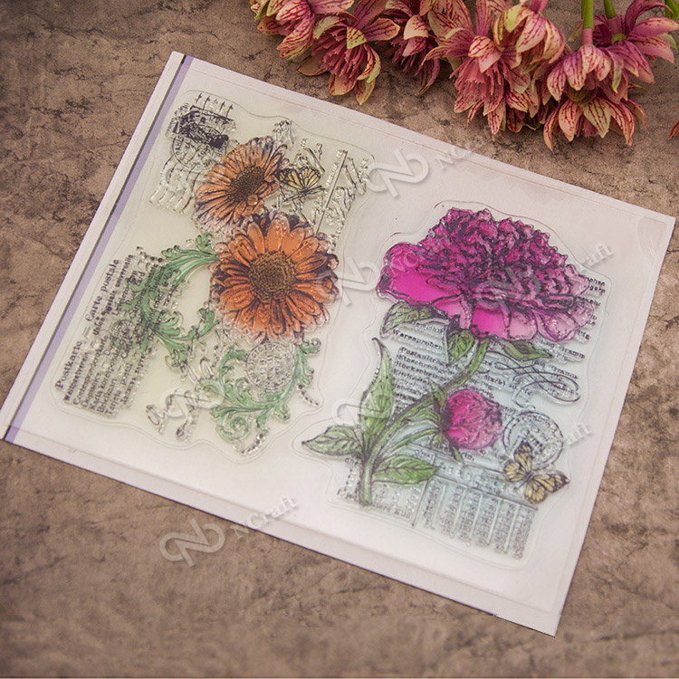 Scrapbook DIY photo cards account rubber stamp clear stamp flower seal kid transparent silicone Cartoon gift stamps<br><br>Aliexpress