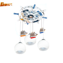 Children Room Blown Glass Chandelier for Sale Led Bulb E27 Kids Chandeliers 110/220V 3 Head Remote Control Chandeliers Suppliers