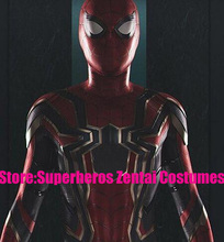 Newest Iron-Spider Homecoming Spiderman Suit 3D Print Zentai Iron Spider-man Cosplay Movies Costumes Spidey Full Bodysuit