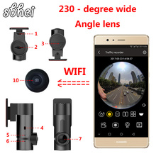 sbhei mini WiFi Car DVR 1080P 230 degree Night Vision Dash Cam Recorder Rotatable Lens Car Camera Wireless Snapshot Auto Camcord