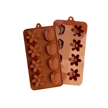 L022 eight even the flower the tulip Handmade Soap fondant cake molds soap chocolate mould for the kitchen baking