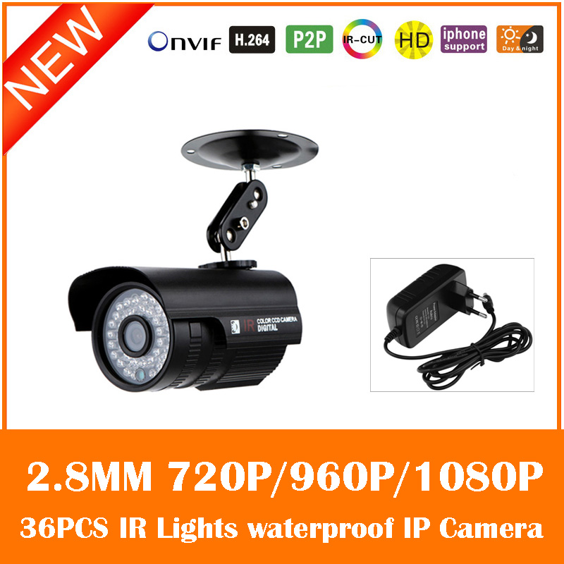 Hd Bullet Ip Camera 2.0mp 90 Degree Angle Infrared Cmos Cctv Night Vision Security Waterproof Metal Outdoor Webcam Freeshipping <br>