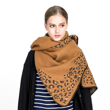 2017 New fashion women leopard cashmere pashmina scarves lady winter thick warm blanket scarf shawl wraps brand high quality