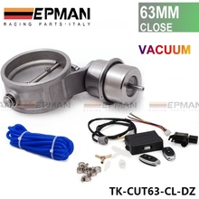 "Exhaust Control Valve Set With Vacuum Actuator CUTOUT 2.5"" 63mm Pipe CLOSE STYLE with Wireless Remote Controller TK-CUT63-CL-DZ"