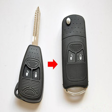 NEW Modified Flip Folding car Key Shell for CHRYSLER Jeep Compass Wrangler Patriot Remote Key Case Fob 2 Botton