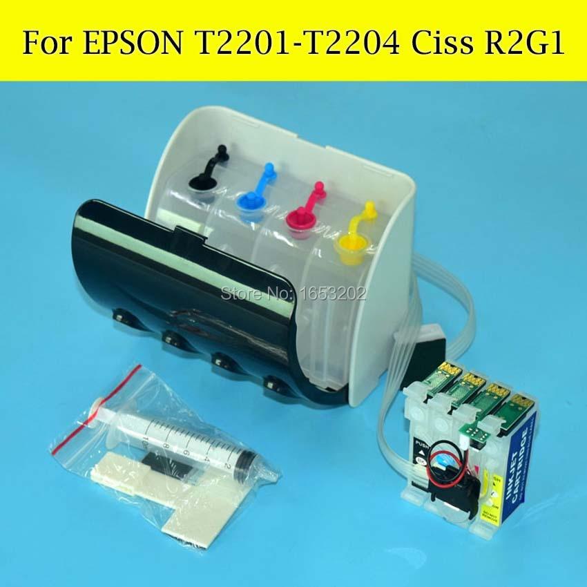 1 Set T220 T2201 Ciss Continuous Ink Supply System For Epson Work Force WF-2750DWF WF-2650DWF WF-2660DWF WF2650/2660 Printer<br><br>Aliexpress