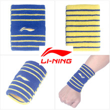 Li-Ning 8*10cm Professional Wristbands Gym Protector Men and Women Wrist Support Sports Pulseira Brace Tennis Sweatbands Guard(China)