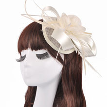 Female Fast Selling Lady's Silk Hair Accessories Aristocratic Temperament Banquet Wedding Business Gifts Headdress   Bridal Hat