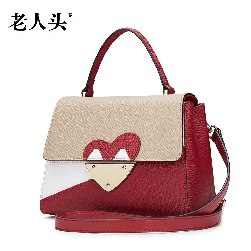 LAORENTOU 2016 New brand women leather bag fashion quality leisure stitching women leather handbags shoulder messenger bag<br><br>Aliexpress