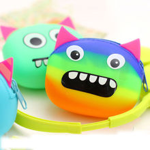 Super Cute Silicone Coin Purse Rubber Wallet Case Key Holder Earphone Storage CN(China)