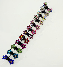 12pcs New 2016 girl with sweet crystal rhinestone flower mini hairpin crab claw clip Fashion Baby Woman with clip Flashes