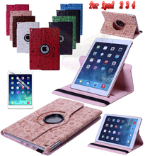 Free 360 Little Witch PU Leather  Rotating Tablet Case Smart Stand for for apple iPad 2 3 4 A1460`A1459`A1458`A1416`A1430`A1396