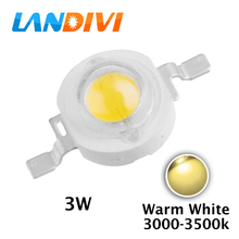 10pcs 2700-3500k 3w warm white led diodes 3W high power led chip light source 120 degree 45mil Epistar chips emitting diode